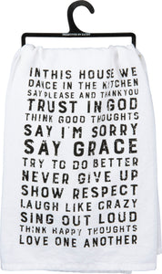 Dish Towel - In This House We Dance In The Kitchen