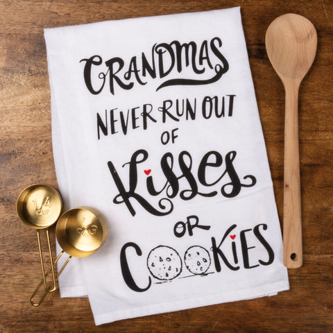Dish Towel - Never Run Out Of Kisses Or Cookies