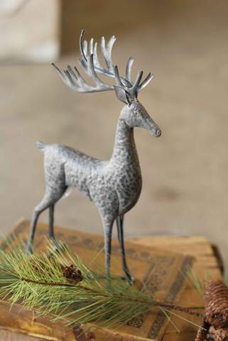 "15"" Metal Dashing Deer"