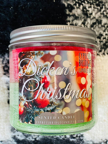 Dickens Christmas 12oz+ Jar Candle