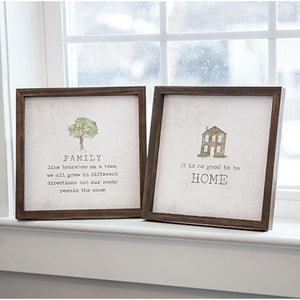 WATERCOLOR WALL DECOR FAMILY/HOME