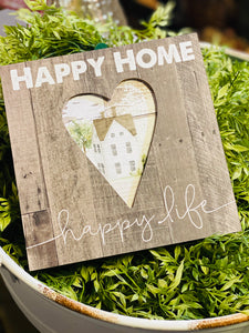HAPPY HOME BOX SIGN