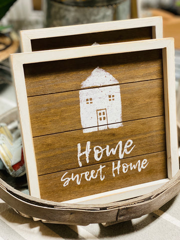 home SWEET home easel sign