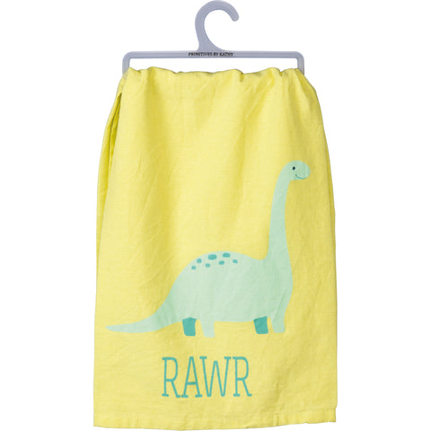 RAWR KIDS BATHROOM TOWEL