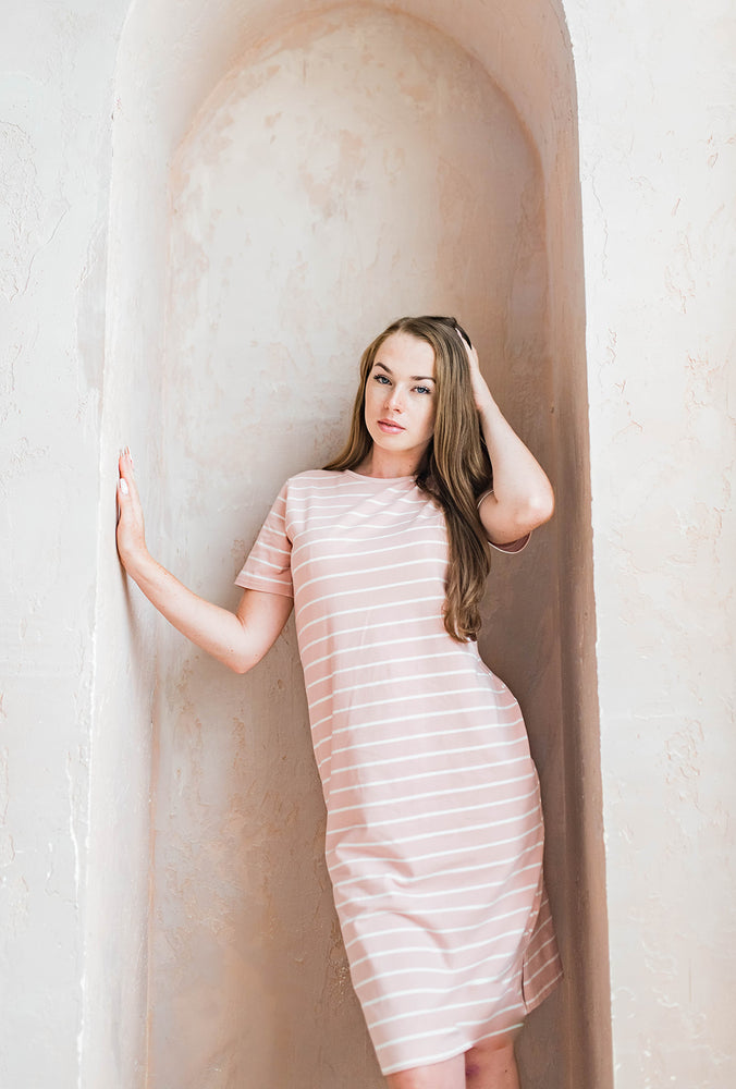 Éclaire striped dress