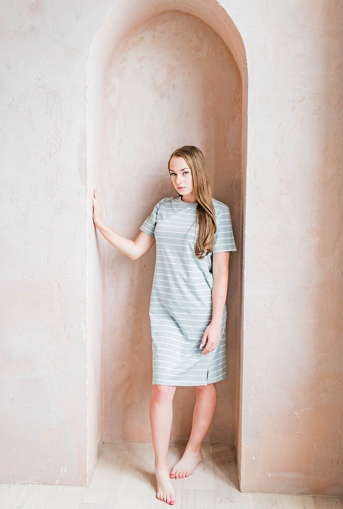 Dorian striped dress