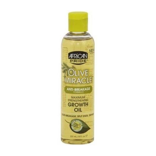 AFRICAN PRIDE - OLIVE MIRACLE MAXIMUM STRENGTHENING GROWTH OIL - 8OZ - merry poppins beauty