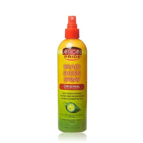 AFRICAN PRIDE - BRAID SHEEN SPRAY ORIGINAL - 12OZ - merry poppins beauty