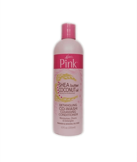 PINK SHEA BUTTER COCONUT OIL DETANGLING CO WASH CLEANSING CONDITIONER - merry poppins beauty