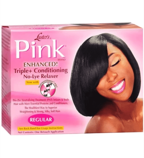 PINK TRIPLE PLUS CONDITIONINH NO LYE RELAXER  - merry poppins beauty