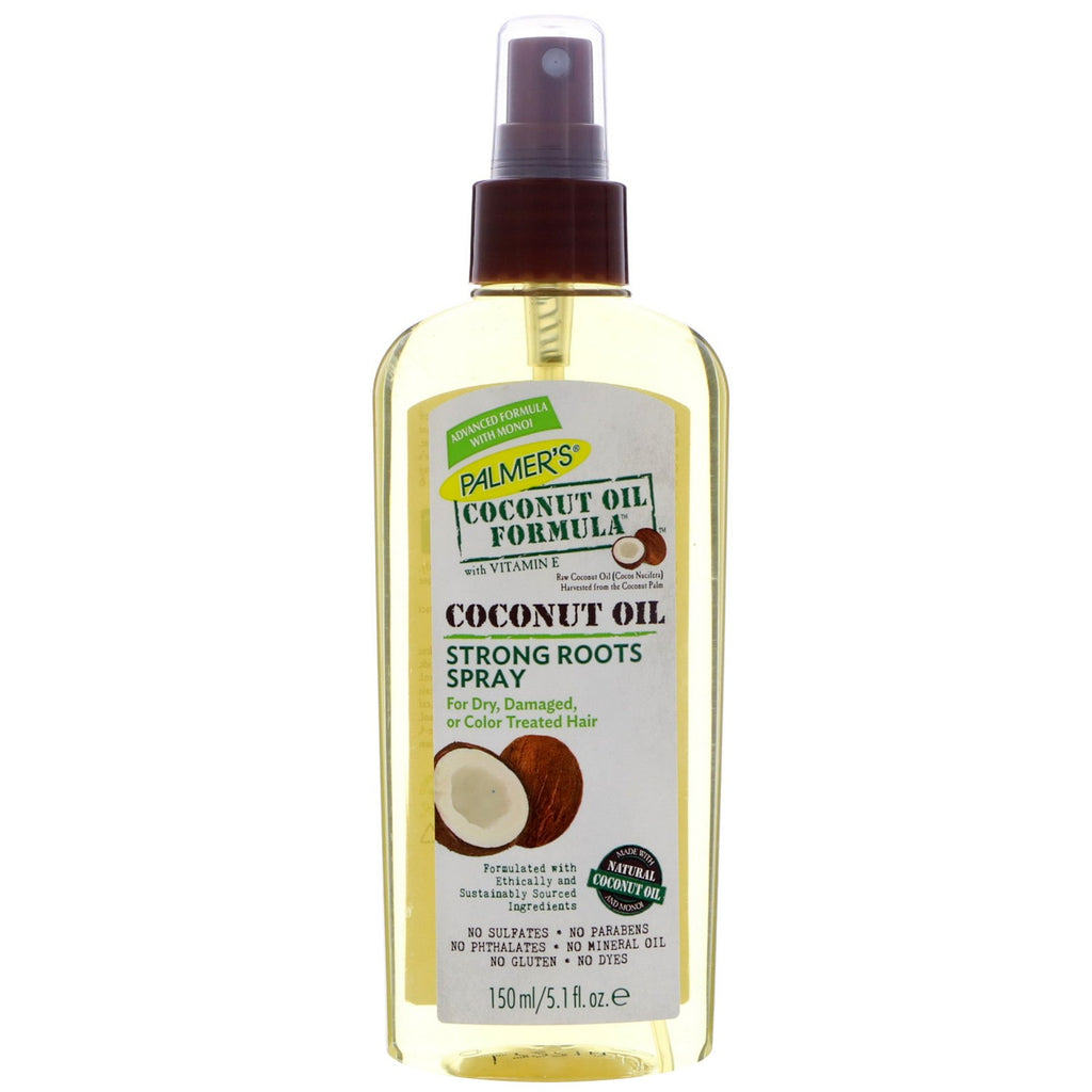 PALMERS - COCONUT OIL STRONG ROOTS SPRAY - 5.1 OZ - merry poppins beauty