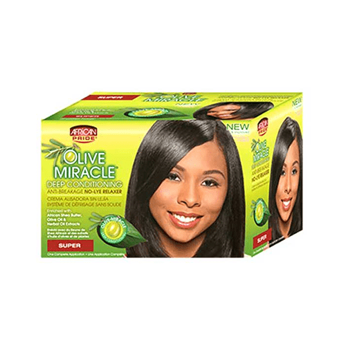 AFRICAN PRIDE - NO-LYE RELAXER KIT - merry poppins beauty