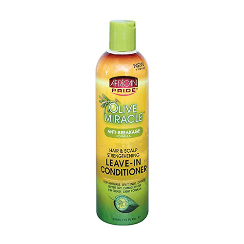 AFRICAN PRIDE - OLIVE MIRACLE ANTI-BREAKAGE LEAVE-IN CONDITIONER - 12OZ - merry poppins beauty