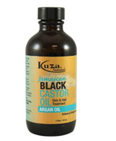 KUZA JAMAICAN BLACK CASTOR OIL FOR SKIN AND HAIR TREATMENT WITH ARGAN OIL 118ML - merry poppins beauty