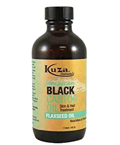 KUZA JAMAICAN BLACK CASTOR OIL SKIN AND HAIR TREATMENT FLAXSEED OIL 118ML - merry poppins beauty