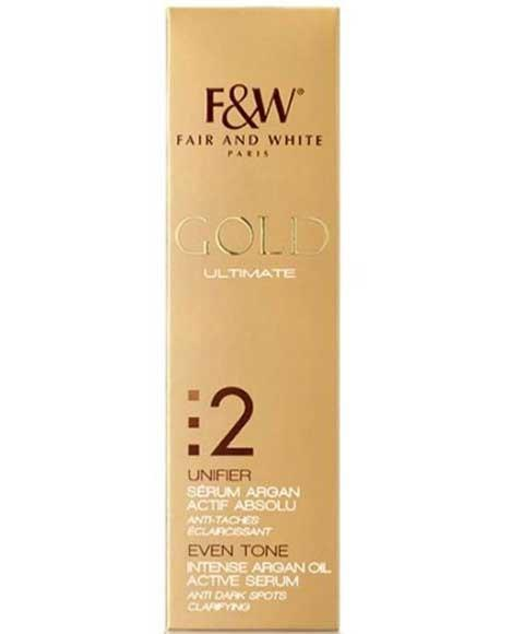 Fair & White Gold Ultimate Even Tone Intense Argan Oil Active Serum - merry poppins beauty