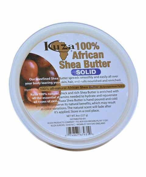 KUZA 100 PERCENT AFRICAN SHEA BUTTER SOLID 227G - merry poppins beauty