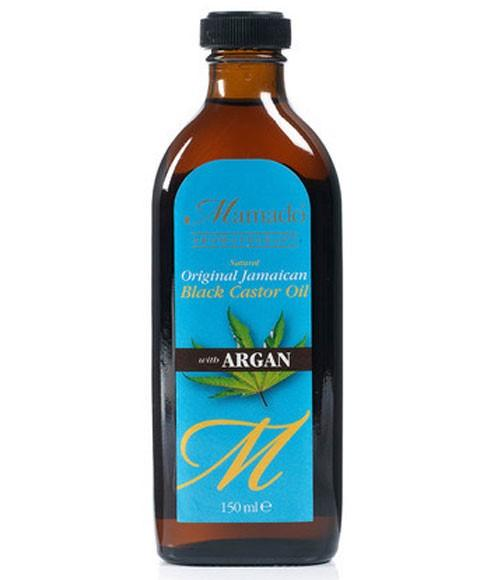 MAMADO NATURAL ORIGINAL JAMAICAN BLACK CASTOR OIL WITH ARGAN 150ML - merry poppins beauty