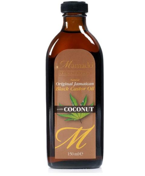 MAMADO NATURAL ORIGINAL JAMAICAN BLACK CASTOR OIL WITH COCONUT 150ML - merry poppins beauty