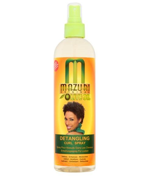 MAZURI OLIVE OIL DETANGLING CURL SPRAY 355ML - merry poppins beauty