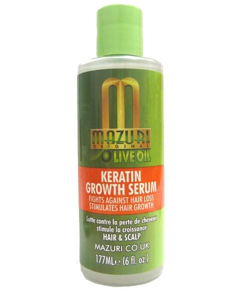 MAZURI OLIVE OIL KERATIN GROWTH SERUM 177ML - merry poppins beauty