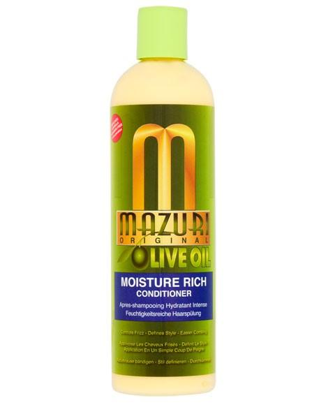 MAZURI OLIVE OIL MOISTURE RICH CONDITIONER 355ML - merry poppins beauty