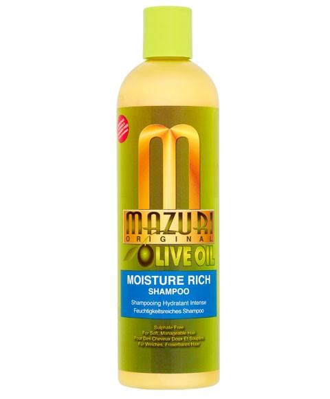 MAZURI OLIVE OIL MOISTURE RICH SHAMPOO 355ML - merry poppins beauty