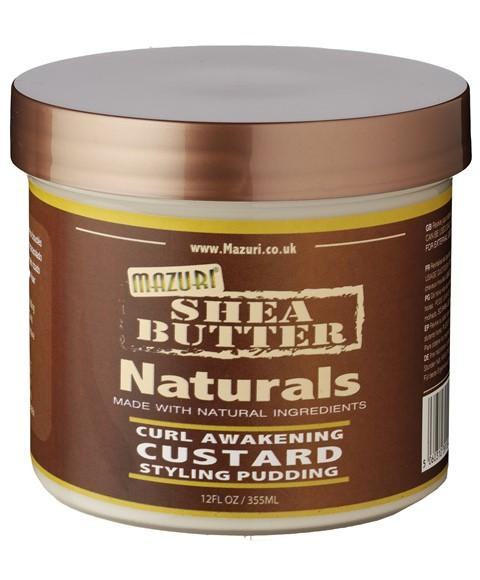 MAZURI SHEA BUTTER NATURALS CURL AWAKENING CUSTARD STYLING PUDDING 12OZ - merry poppins beauty