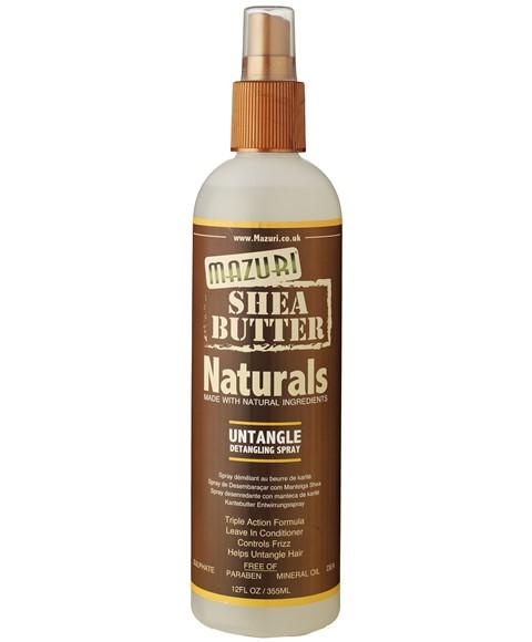 MAZURI SHEA BUTTER NATURALS UNTANGLE DETANGLING SPRAY 355ML - merry poppins beauty