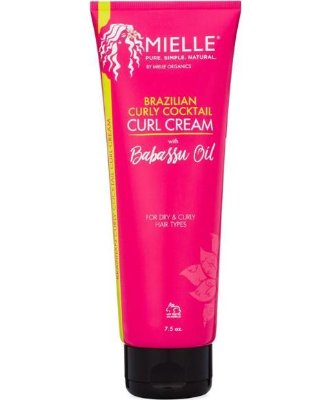 MIELLE BRAZILIAN CURLY COCKTAIL CURL CREAM WITH BABASSU OIL 7.5OZ - merry poppins beauty