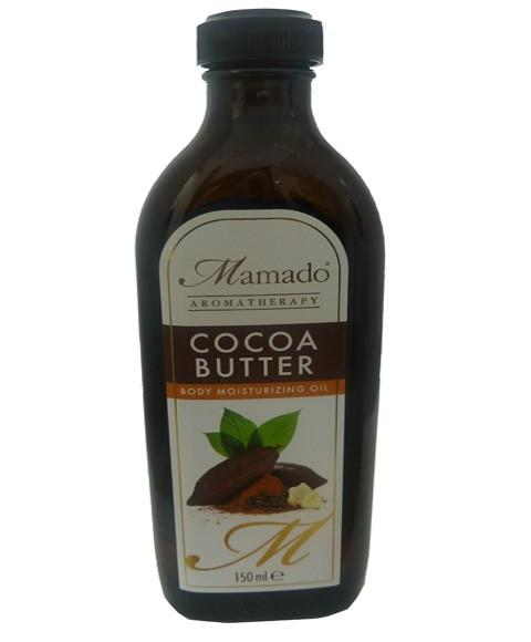 MAMADO AROMATHERAPY COCOA BUTTER BODY MOISTURISING OIL 150ML - merry poppins beauty