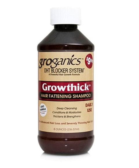GROGANICS GROWTHICK HAIR FATTENING SHAMPOO 8OZ - merry poppins beauty