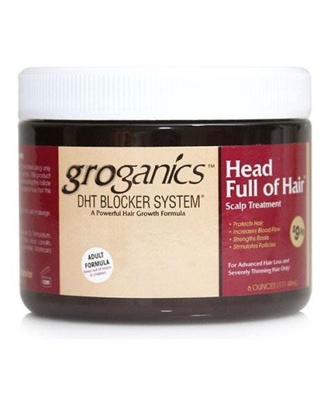 GROGANICS DHT BLOCKER HEAD FULL OF HAIR 6OZ - merry poppins beauty
