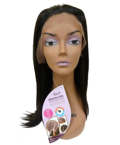 RUSH BRAZILIAN REMY DEEP PART HH SIMPLY STRAIGHT MEDIUM LACE FRONT WIG - merry poppins beauty