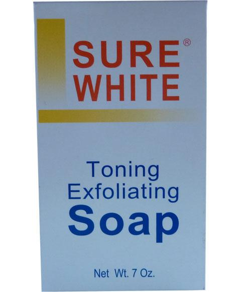 SURE WHITE TONING EXFOLIATING SOAP 7OZ - merry poppins beauty