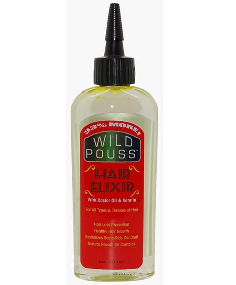 MAMADO WILD POUSS HAIR ELIXIR WITH CASTOR OIL AND KERATIN 177.4ML - merry poppins beauty