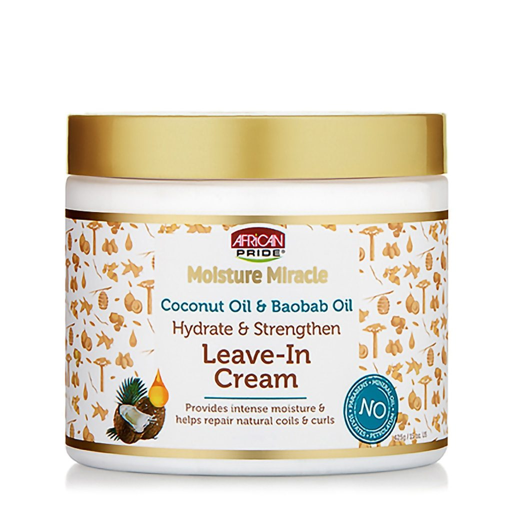 AFRICAN PRIDE MOISTURE MIRACLE COCONUT OIL & BAOBAB OIL LEAVE-IN CREAM - 15OZ  Regular price£9.99 - merry poppins beauty