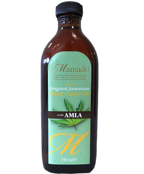 MAMADO NATURAL ORIGINAL JAMAICAN BLACK CASTOR OIL WITH AMLA 150ML - merry poppins beauty