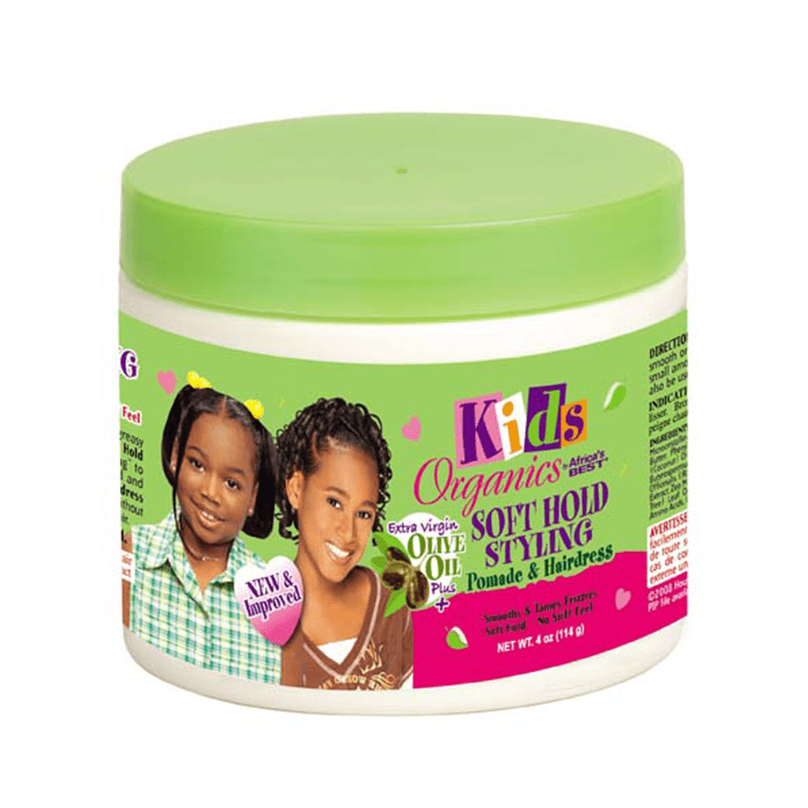 AFRICAS BEST - KIDS ORGANICS SOFT HOLD STYLING POMADE & HAIRDRESS - 4OZ - merry poppins beauty