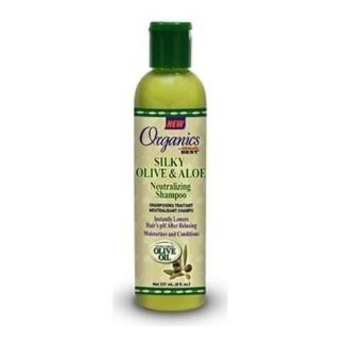 AFRICAS BEST - SILKY OLIVE & ALOE NEUTRALIZING SHAMPOO - 8OZ - merry poppins beauty
