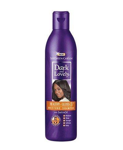 DARK AND LOVELY - HEALTHY GLOSS 5 MOISTURE SHAMPOO - 8.4OZ - merry poppins beauty