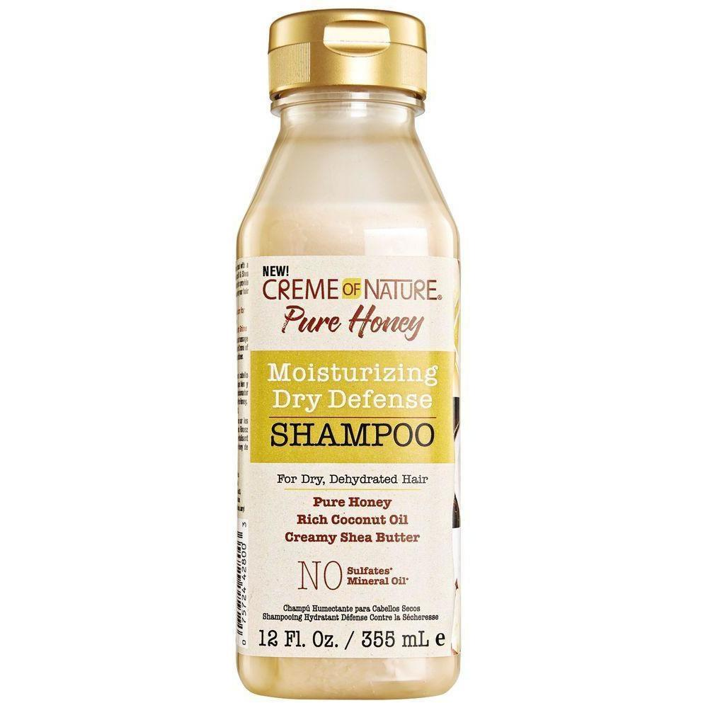 CREME OF NATURE - PURE HONEY MOISTURIZING DRY DEFENSE SHAMPOO - 12OZ - merry poppins beauty