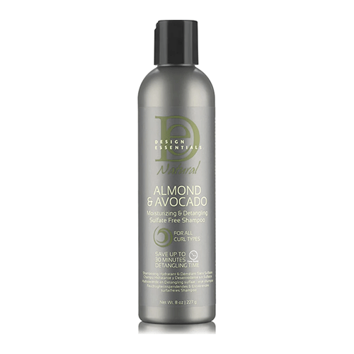 DESIGN ESSENTIALS - ALMOND & AVOCADO MOISTURIZING & DETANGLING SULFATE FREE SHAMPOO - merry poppins beauty