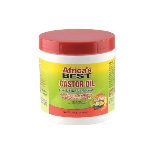 AFRICAS BEST - CASTOR OIL HAIR & SCALP CONDITIONER - 5.25OZ - merry poppins beauty