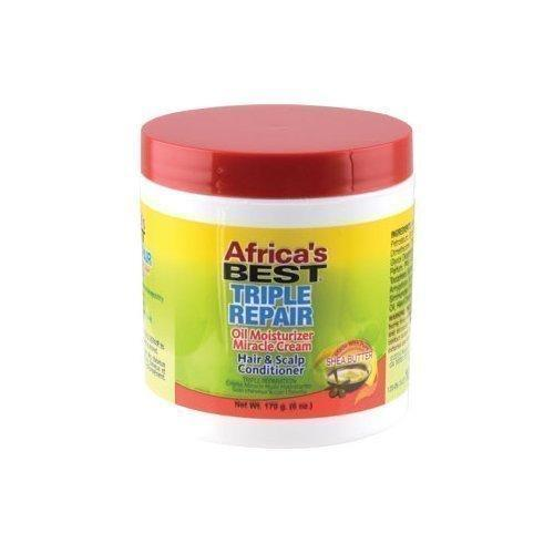 AFRICAS BEST - TRIPLE REPAIR OIL MOISTURIZER HAIR & SCALP CONDITIONER - 6OZ - merry poppins beauty