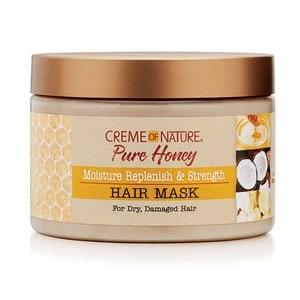 CREME OF NATURE - PURE HONEY MOISTURE REPLENISH STRENGTH HAIR MASK - 11.5OZ - merry poppins beauty