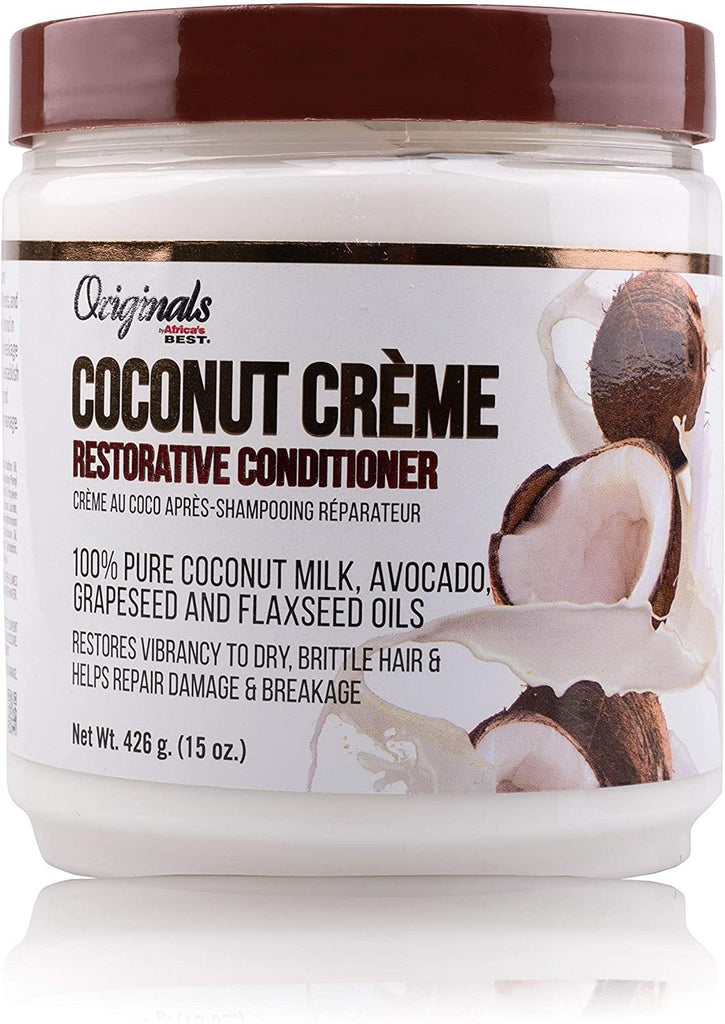 AFRICAN BEST - COCONUT CREME RESTORATIVE CONDITIONER - 15OZ - merry poppins beauty