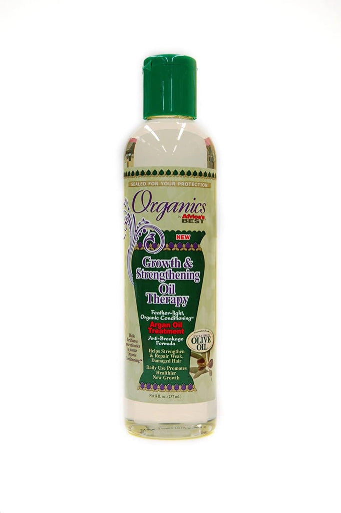 AFRICAS BEST - GROWTH & STRENGTHENING OIL THERAPY - 8OZ - merry poppins beauty