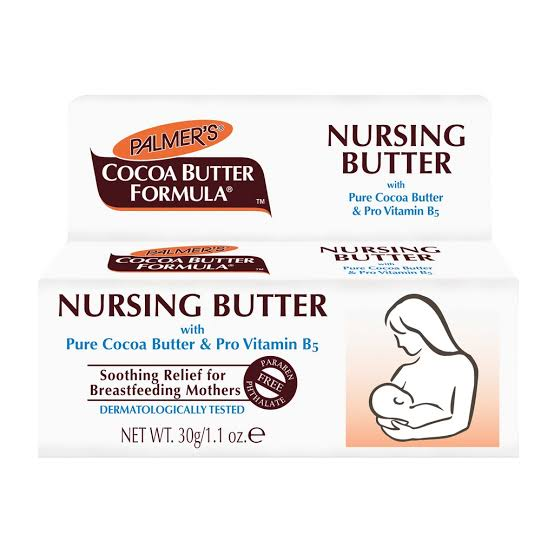 PALMERS - COCOA BUTTER FORMULA NURSING BUTTER CREAM - 1.1OZ - merry poppins beauty