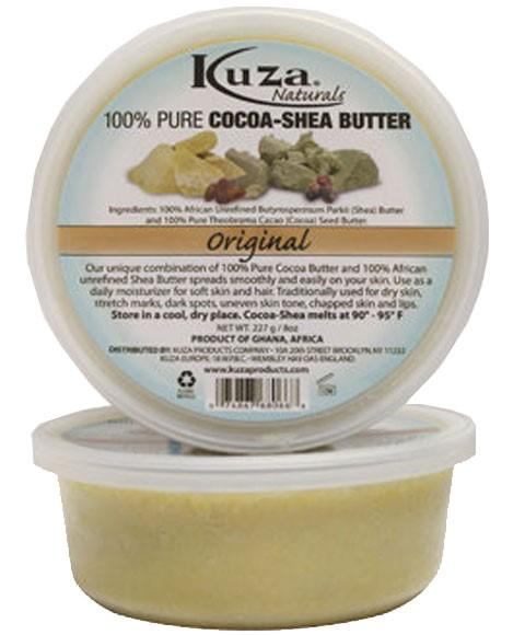 KUZA 100 PERCENT PURE COCOA AND SHEA BUTTER ORIGINAL 227G - merry poppins beauty